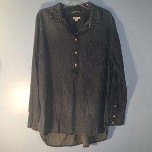 Jean long sleeve shirt.